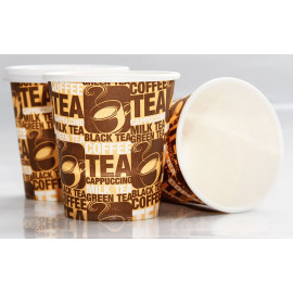 HOTPACK- 50 PIECES  PAPER HEAVY DUTY CUP 8  OUNCE ( 20 Pack Per Carton )