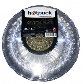 HOTPACK - 5 PIECES CRYSTAL PLATE - 36 centimetre ( 10 Pack Per Carton )