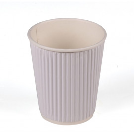 HOTPACK - 25 PIECES RIPPLE PAPER CUP WHITE 4 OUNCE ( 20 Pack Per Carton )