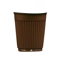 Hotpack-Coffee Cup 4 oz. Brown - 100 Pieces ( 20 Packs Per Carton )