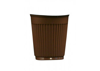 Hotpack-coffee cup 4 oz. brown - 100pcs (20 packs per carton)