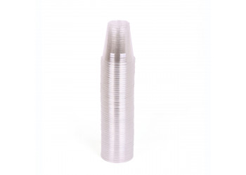 Hotpack-plastic clear cup 6-oz - 50pcs ( 20 packs per carton)