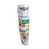 Hotpack-paper juice cup 12-oz +lid 25pcs (20 packs per carton)
