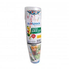 Hotpack-Paper Juice Cup 12-oz +lid 25 Pieces ( 20 Packs Per Carton )