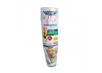 Hotpack-paper juice cup 12-oz +lid 25pcs (20 packs per carton)