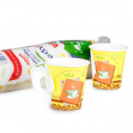 Hotpack-Paper Cup With Handle 7-oz-50 Pieces ( 20 Packs Per Carton )