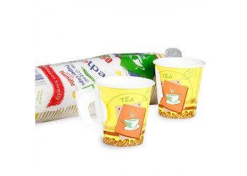Hotpack-paper cup with handle 7-oz-50pcs (20 packs per carton)