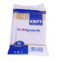 Hotpack-plastic knife-50pcs (40 packs per carton)