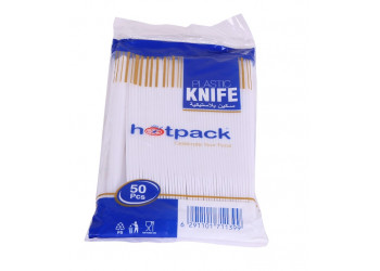 Hotpack-plastic knife-50pcs (40 packs per carton)