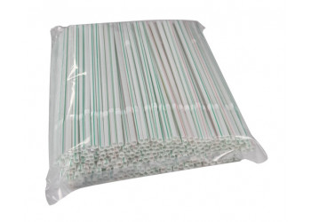 Hotpack-flexible straw 6mm, 250pcs (40 packs per carton)