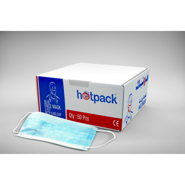 Hotpack-face mask 3ply-50pcs (20 packs per carton)