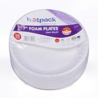 """Hotpack-round foam plate 7"""" - 25pcs (40 packs per carton)"""