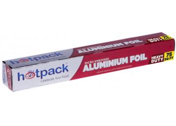 Hotpack Aluminium Foil, Embossed-75 Square Feet ( 12 Rolls Per Carton )