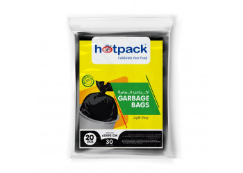 Hotpack-garbage bag 65*95cm-regular economy 30gallon -20pcs  (30 packs per carton)