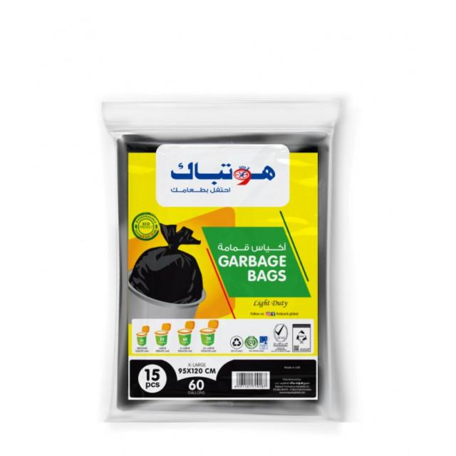 Hotpack-garbage bag 95*120cm-regular economy -60 gallon 15pcs (20 packs per carton)