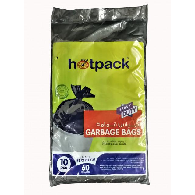 Hotpack-garbage bag 95*120cm-heavy duty-60 gallon 10pcs (20 packs per carton)