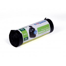 Hotpack  Garbage Bag Roll  105 X 130 cm-10 Pcs-70 Gallon  ( 15 Packs Per Carton )