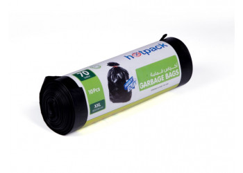 Hotpack  Garbage Bag Roll  105x130 cm-10 Pcs-70Gallon  (15 packs per carton)