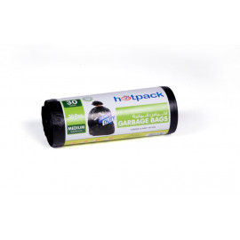 Hotpack  Garbage Bag Roll  65 X 95 cm-30 Pieces-30Gallon  ( 15 Rolls Per Carton )