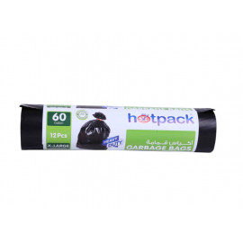 Hotpack  Garbage Bag Roll  95 X 120 cm-12 Pieces-60 Gallon ( 15 Rolls Per Carton )