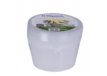 Hotpack-micro wave container Round 450ml-5pcs (20 packs per carton)