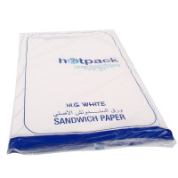 Hotpack-sandwich paper-white- 800 sheets (10 packs per carton)