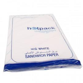 Hotpack-Sandwich Paper-White - 800 Sheets ( 10 Packs Per Carton )