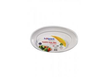 Hotpack-plastic oval tray -10pcs ( 20 packs per carton)