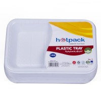 Hotpack-plastic rectangular tray-no.3 –1 kg 10pieces (10 packs per carton)
