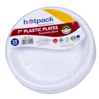 "Hotpack-plastic round plate 7""– 25pcs (20 packs per carton)"