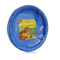 "Hotpack-coloured plastic plates 9"" multicolor- 25 pcs (20 packs per carton)"