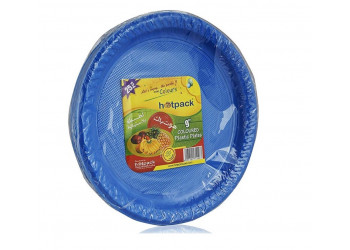 "Hotpack-coloured plastic plates 9"" multicolor- 25 pcs (20 packs per carton)"