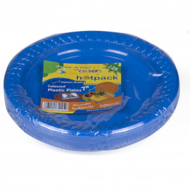 "Hotpack Coloured Plastic Plates 7"" multicolor– 25 Pieces ( 20 Packs Per Carton )"