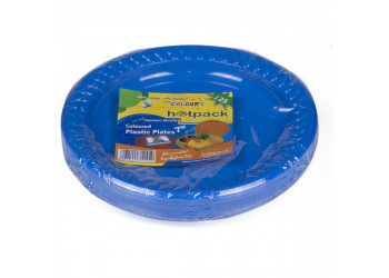 "Hotpack-coloured plastic plates 7"" multicolor– 25pcs (20 packs per carton)"