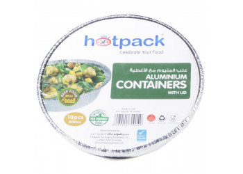 Hotpack- Aluminum Round container 800cc- 800ml (10 pcs X 20 packs per carton)