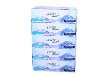Soft n cool facial tissue,150pulls*2ply-5box (6 packs per carton)