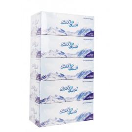 Soft n Cool Facial Tissue, 200 Pulls*2 ply - 5 Box ( 6 Packs Per Carton )