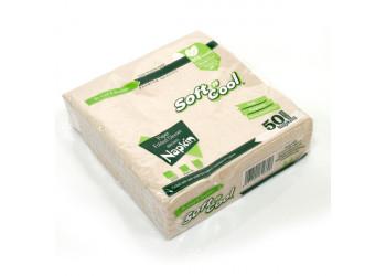 Soft n cool-brown paper dinner napkin-40x40 cm-50pcs (40 packs per carton)