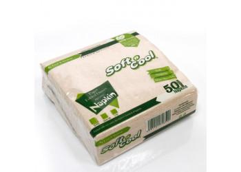 Soft n cool-brown paper dinner napkin-33x33 cm-50pcs (40 packs per carton)