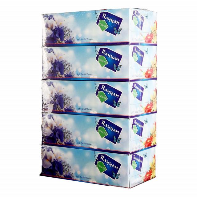 Hotpack-Facial Tissue 150 Pulls 2 ply, rayan - 5 Box ( 6 Packs Per Carton )