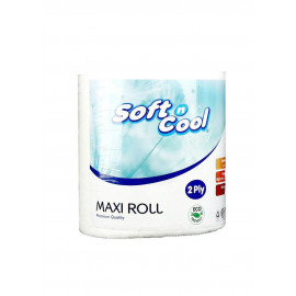 Hotpack-Paper Maxi Roll-2ply- 1 Roll-130 Meter ( 6 Rolls Per Carton )