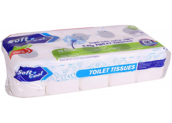 Soft n cool-toilet roll 100 sheets pack of 10 Rolls (10 packs per carton)