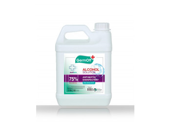 GermOff Medcare Alcohol Solution Antiseptic Disinfectant Clear ( 5 LTR  X  4 Per Carton )