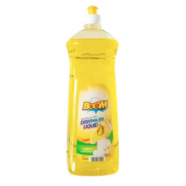 BOOM Dishwashing Liquid Lemon Yellow 1Liter ( 12 Pieces Per Carton )