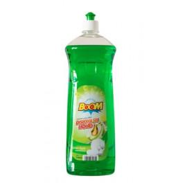 BOOM Dishwashing Liquid Apple Green 1 Liter ( 12 Pieces Per Carton )