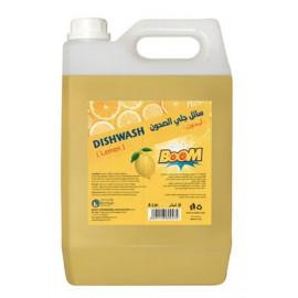 BOOM Dishwash Liquid Lemon Yellow 5L ( 4 Pieces Per Carton )