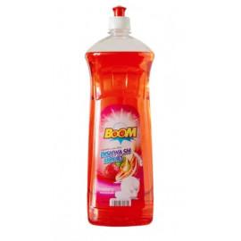 BOOM Dishwashing Liquid Strawberry Red 1 Liter ( 12 Pieces Per Carton )