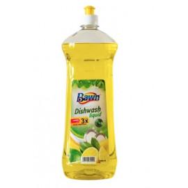 Bawn Dishwashing Liquid Lemon Yellow 1 Liter ( 12 Pieces Per Carton )