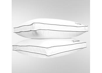 Dream Pillow - 2 Pcs 100% Cotton Box Pillow Super Soft White-50 x 75 cm