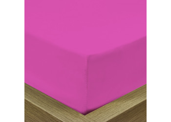 Rest Super soft Fitted sheet 120 X 200 + 25 CM-FUSCHIA